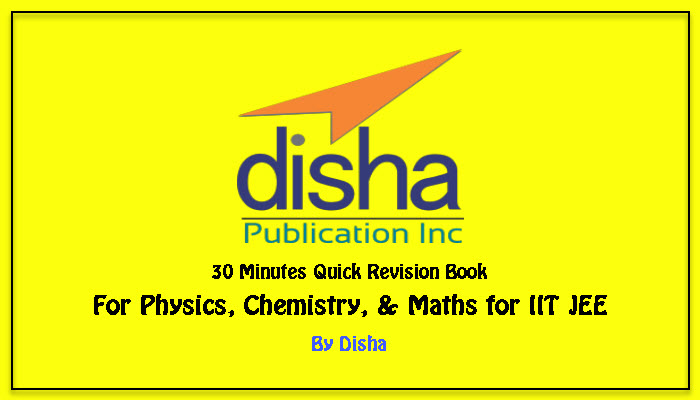 disha quick revision book for iit jee