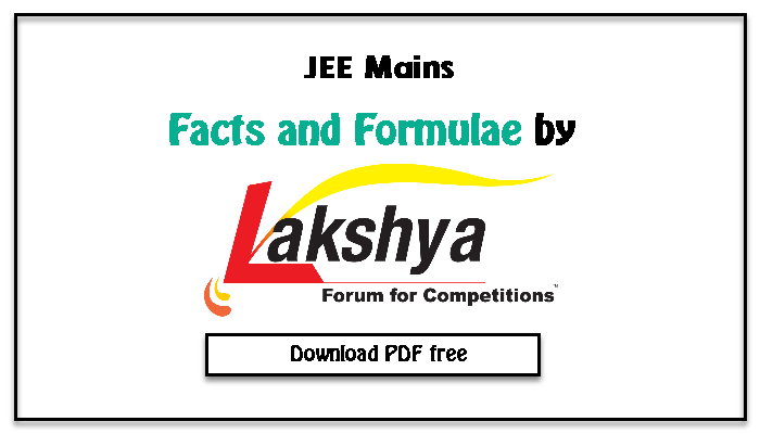 facts and formulae for iit jee mains download