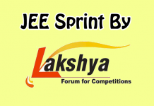 jee sprint by lakshya educare