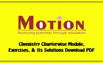 motion IIT JEE chemistry