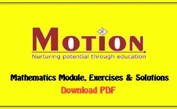 motion classes maths module download