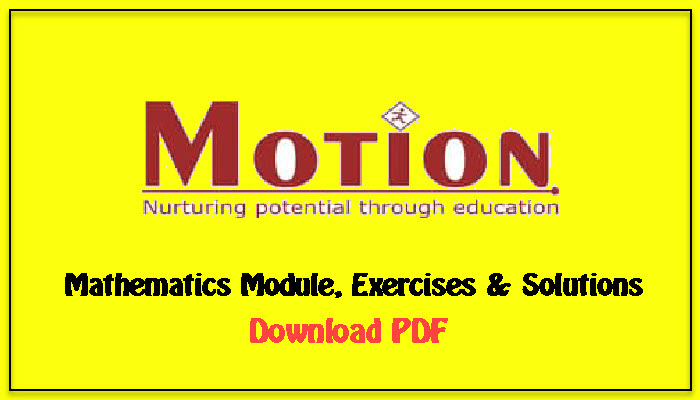 motion classes maths module download