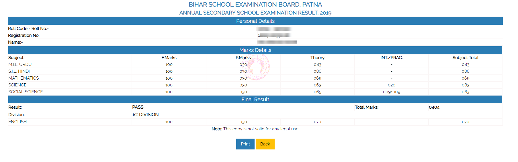 bseb-result-1 BSEB 10th Result 2020 (Released) Bihar Board Matric Result @ biharboard.online
