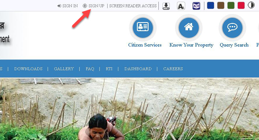 banglarbhumi-signup-1 Banglarbhumi 2020: Search banglarbhumi.gov.in Land Record Khatian