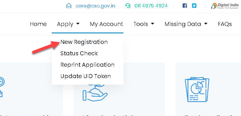 new-register-1 CSC Registration 2020: Status, Apply New CSC Center, TEC Registration, Login|register.csc.gov.in|