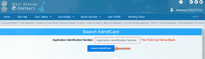 Download-Admit-Card-edistrict-west-bengal WB eDistrict: Status Check, Apply for Income, Caste, Residence Certificate |  @edistrict.wb.gov.in