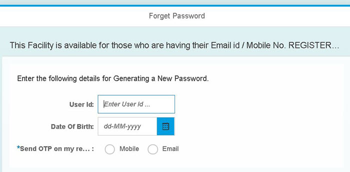 sbi-hrms-forgot-password SBI HRMS Employee Login (How to): SBI HRMS IRJ Online Portal | MyHRMS App | SBI Pension