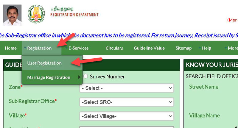 tnreginet-registration-1 Tnreginet Registration: Guide Value Search, Login | Apply for Services @ tnreginet.gov.in