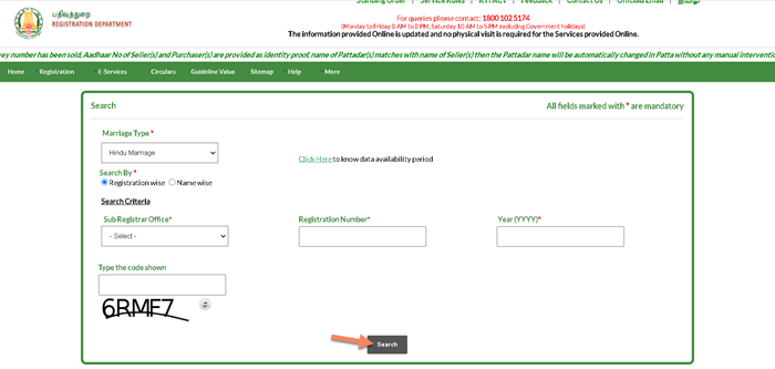 Search-Marriage-tn-reginet Tnreginet Registration: Guide Value Search, Login | Apply for Services @ tnreginet.gov.in