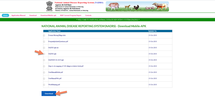 NARDS-documents-download-process NADRS 2.0 Login - National Animal Disease Reporting System 2021 @nadrsapps.gov.in