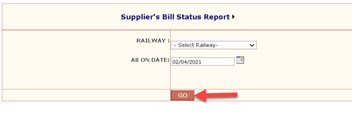 Suppliers-bill-status AIMS Portal Indian Railway: Regsitration, Salary Slip Download, Railway Employee Pay Slip