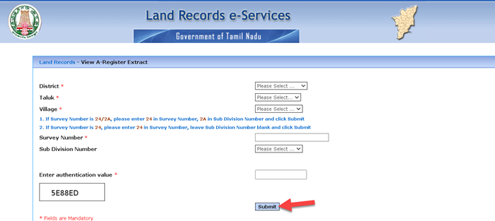 patta-chitta-a-register-extract Patta Chitta: Status, View Land Ownership, Login Page (eservices.tn.gov.in), Land Record