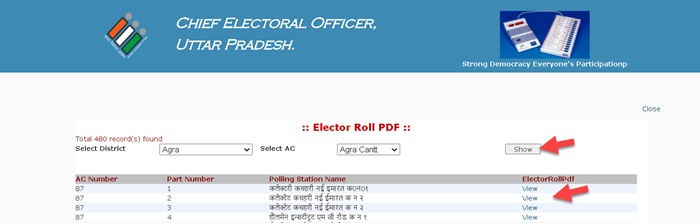 up-electoral-roll-view UP Voter List PDF 2021: Gram Panchayat Voter List UP, CEO Electoral Roll PDF Download