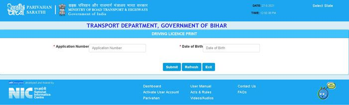 Driving-license-print-by-application-no-enter-details Download DL Online: Process to Download Driving License, Duplicate DL Apply