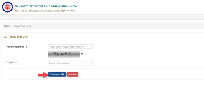 Know-Your-UAN-enter-mobile-no PF Balance Check without UAN Number (With UAN), EPF Missed Call, SMS, UMANG