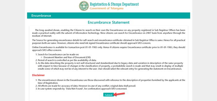 Search-for-Encumbrance-Certificate-Read-and-Submit-Instructions IGRS Telangana EC Encumbrance Certificate: Online Search, Registration, Download EC Telangana