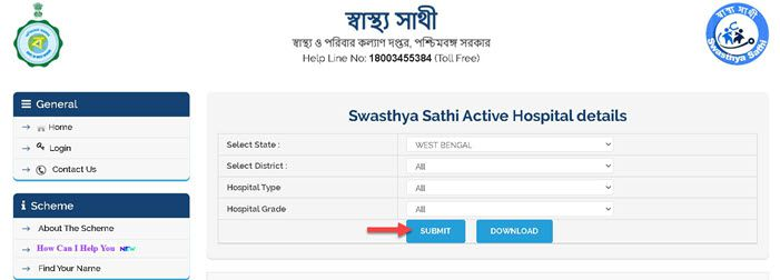 Swasthya-Sathi-Active-Hospital-details-check Swasthya Sathi Scheme 2021: Application Form, Online Apply, Beneficiary List, Card @swasthyasathi.gov.in