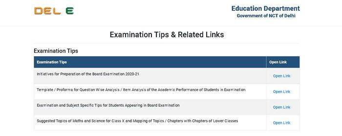 Examination-tips-and-related-links Delhi Nursery Admission 2021: EWS/DG Admission Online, (edudel.nic.in) Class V to IX Admission