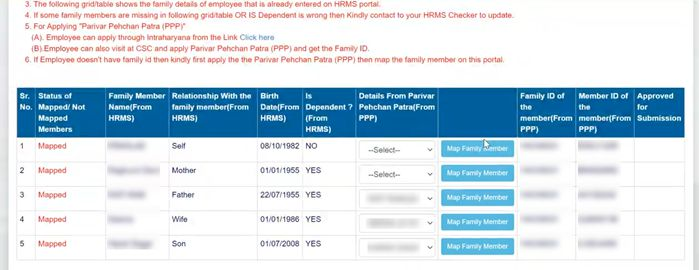 How-to-Map-Family-Data-to-PPP-Intrahry.nic_.in-1-52-screenshot Intra Haryana: Login, Property Return, eSalary, Salary Statement, Leave Apply @intrahry.gov.in