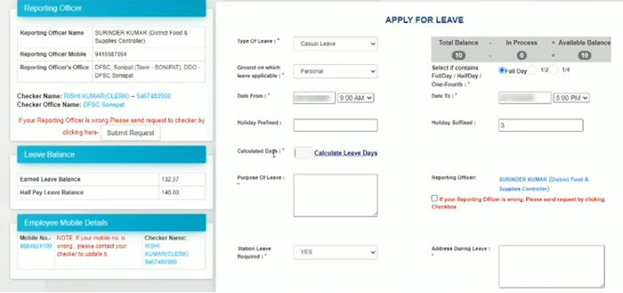 Leave-Module-Intra-Haryana-_-Change-reporting-officer-I-Approve-leave-on-Intra-Haryana-2-21-screenshot Intra Haryana: Login, Property Return, eSalary, Salary Statement, Leave Apply @intrahry.gov.in