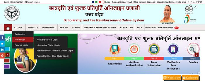 UP-Scholarship-Application-Submit-login-fresh UP Scholarship Status 2021 - Online Apply, Last Date - scholarship.up.gov.in