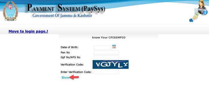 JK-Pay-Sys-Know-your-CpisId JkPaySys Salary Slip View/Download, Pay manager Login at jkpaysys.gov.in